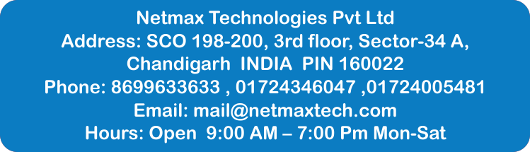 Netmax technologies office address robotics training in chandigarh Robotics training in chandigarh and Punjab with certification Netmax office contact