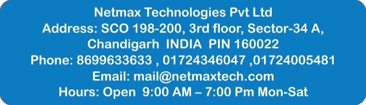 Netmax technologies office address ppc training in chandigarh PPC training in Chandigarh Netmax office contact