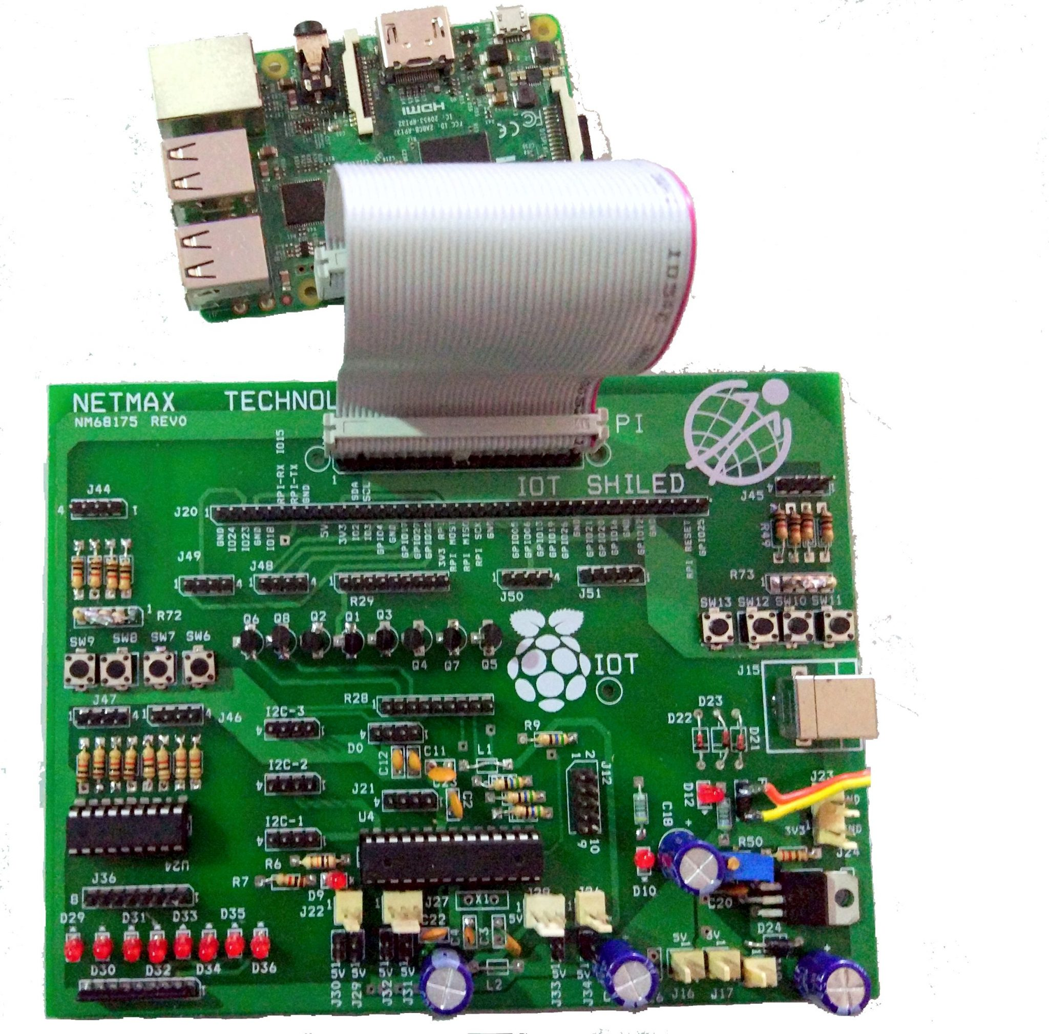 Netmax Iot Shield 2019 iot shield Netmax IOT Shield For Raspberry Pi with Netmaxiot Python Framework Netmax Iot Shield 2019